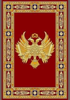Κόκκινο χαλί με δικέφαλο αετό