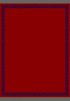 Κόκκινο χαλί με μπλε μαίανδρο